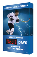 Digi Day Safety Scoreboards- Our Goal- No Accidents- Hockey Accuform SCA261