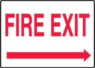 Fire Exit (Arrow Right) - Aluma-Lite - 7'' X 10''