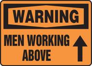 Warning - Men Working Above Sign