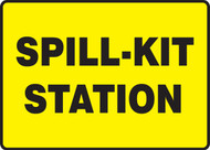 Spill-Kit Station Sign Black On Yellow