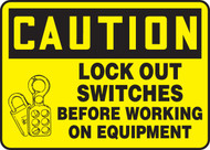 Lockout Switches Before Working On Equipment