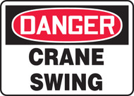 Danger - Crane Swing Sign