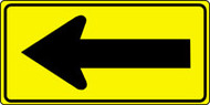 "Left Arrow Pictorial Sign- 18"" x 36"""