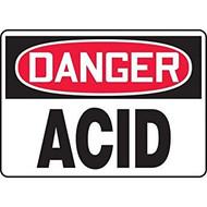 Danger - Acid - Dura-Plastic - 10'' X 14''