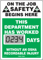 SCL234 Mini Digi Day Safety Scoreboard