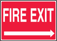 Fire Exit (Right Arrow) - Dura-Plastic - 7'' X 10''
