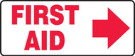 First Aid Sign with Right Arrow
