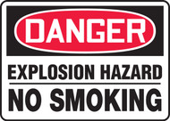 Danger - Explosive Hazard No Smoking