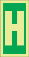 Letter H IMO Sign