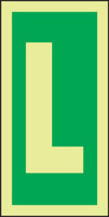 Letter L IMO Sign