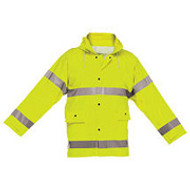 Reflective Rain Jacket Short - Lime- 2 XLarge