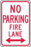 No Parking Fire Lane Sign 1
