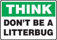 Think - Don't Be A Litterbug