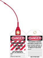 Danger Equipment Locked Out Loop Safety Tag