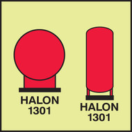 MLMR709 Halon Bottles in Protected Area IMO Sign