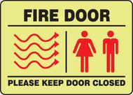Fire Door Please Keep Door Closed -Glow