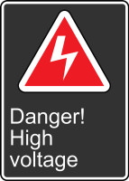 MCSA143VS Danger High Voltage Sign