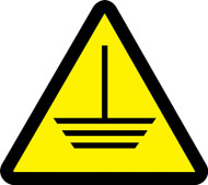 Electric Ground Hazard - Adhesive Vinyl - 6''