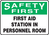 First Aid Station In Personnel Room