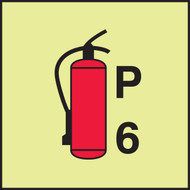 MLMR770GE Fire Extinguisher Power P6 Sign
