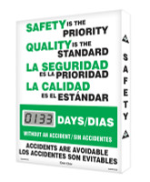 Digi Day Lite Electronic Safety Scoreboard Bilingual  SCJ133