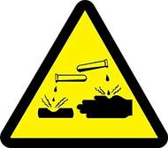 Corrosive-Acid Hazard - .040 Aluminum - 6''