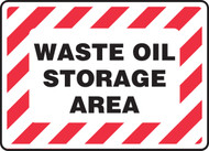 Waste Oil Storage Area with Red Graphic