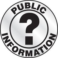Public Information Reflective Emergency Response Helmet Sticker