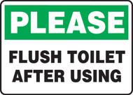 Please Flush Toilet After Using - Dura-Fiberglass - 10'' X 14''