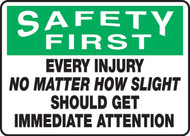 Safety First - Every Injury No Matter How Slight Should Get Immediate