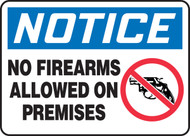 MACC803VA Notice no firearms allowed on premises sign