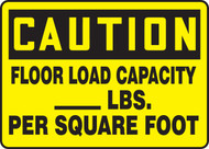 Caution - Floor Load Capacity ___ Lbs. Per Square Foot