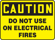 Caution - Do Not Use On Electrical Fires - Adhesive Dura-Vinyl - 10'' X 14''