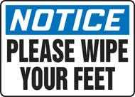 Notice - Please Wipe Your Feet