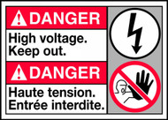 Danger High Voltage Keep Out Sign