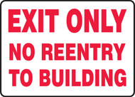 Exit Only No Reentry To Building