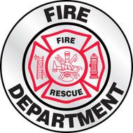 Fire Department Reflective Helmet Sticker