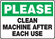 Please Clean Machine After Each Use