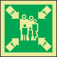 Assembly-Muster Station IMO Sign
