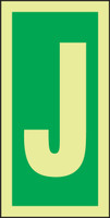 Letter J IMO Sign