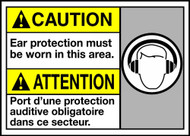 Caution Ear Protection Must Be Worn In This Area (W/Grpahic)