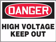 MELC087 Danger High Voltage Keep Out Sign