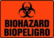 Spanish Biohazard Sign- Bilingual Spanish Safety Sign
