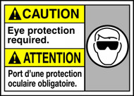 Caution Eye Protection Required (W/Graphic)