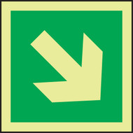 Directional Arrow - Diagonal IMO Sign