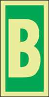 Letter B IMO Sign