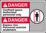 Danger Confined Space Authorized Personnel Only (W/Graphic)