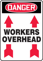 Workers Overhead Sign with Arrows  Up