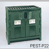 Poly Pesticide Safety Cabinet by Eagle- 22 Gallon