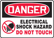 Danger - Electrical Shock Hazard Do Not Touch Sign
